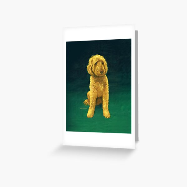 Golden-Doodle-Whoodle Greeting Card