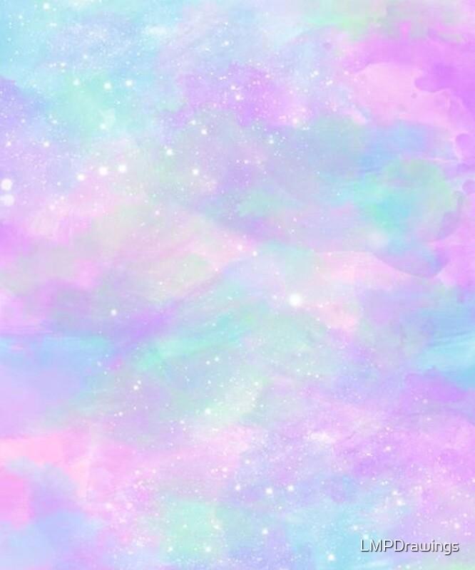 "Teal Iphone Wallpaper: ""Pastel Galaxy Phone Case"" By LMPDrawings"