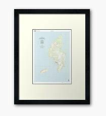 USGS TOPO Map Northern Mariana Islands MP Island Of Tinian 363627 1999 25000 Framed Print