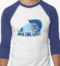Adulting sucks Baseball ¾ Sleeve T-Shirt