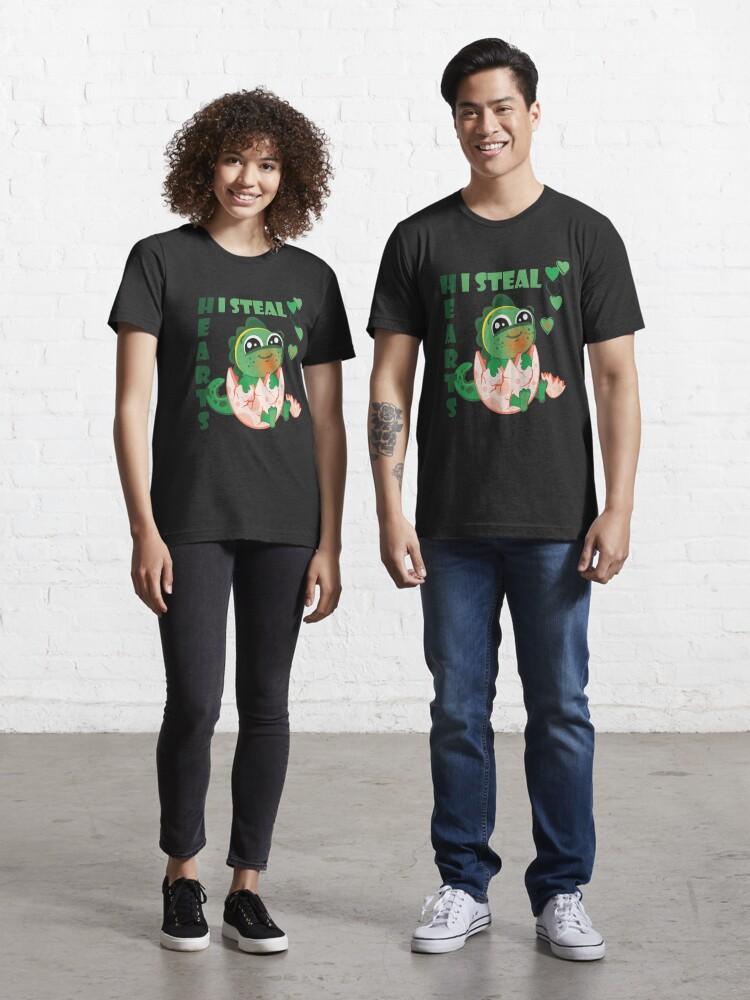 Kids I Steal Hearts Trex Dino Cute Baby Boy Valentine/'s Day Gift T-Shirt