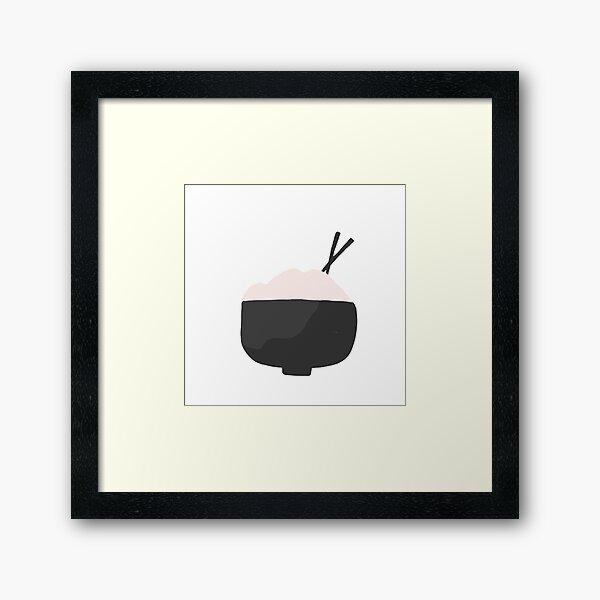 Rice Bowl B&W Framed Art Print