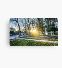 The month of March on campus Canvas Print