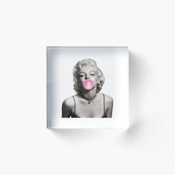 Marylin Monroe Bubble Gum 5 Bloc acrylique