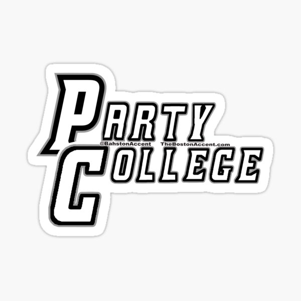 PC Party College Sticker