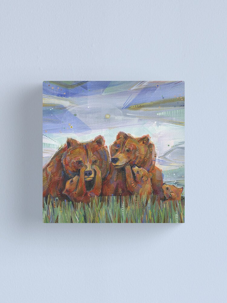 Alternate view of Grizzly Bears Painting - 2012 Canvas Print