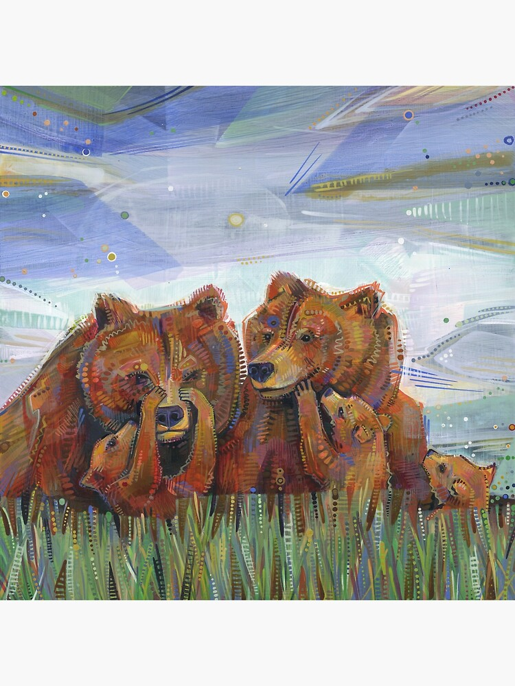 Grizzly Bears Painting - 2012 by gwennpaints