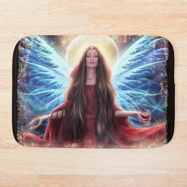 Goddess of Abundance and The Spirit - Painting of the Divine Feminine  Bath Mat