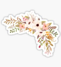Pastell Aquarell Bouquet Pfirsich Sticker