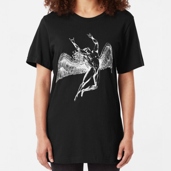 ICARUS THROWS THE HORNS - white ***FAV ICARUS GONE? SEE BELOW*** Slim Fit T-Shirt