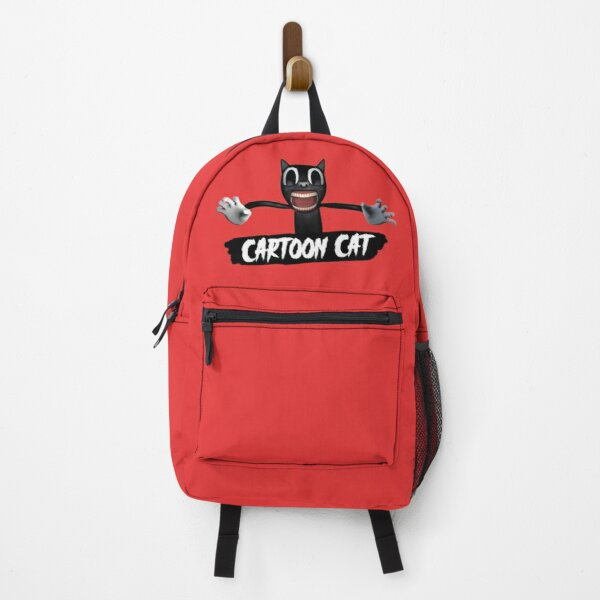 Cartoon Cat - red Backpack