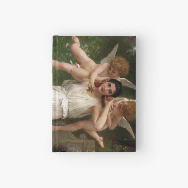 Realism Renaissance Famous Paintings: Youth, 1893, William-Adolphe Bouguereau Hardcover Journal
