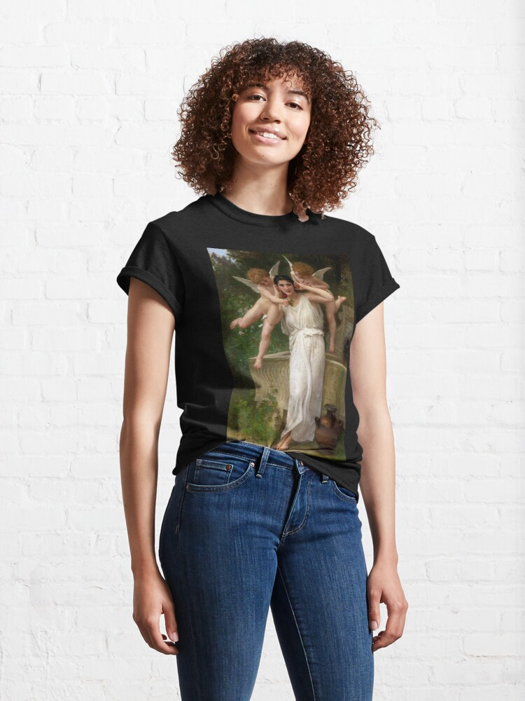 Alternate view of Realism Renaissance Famous Paintings: Youth, 1893, William-Adolphe Bouguereau Classic T-Shirt