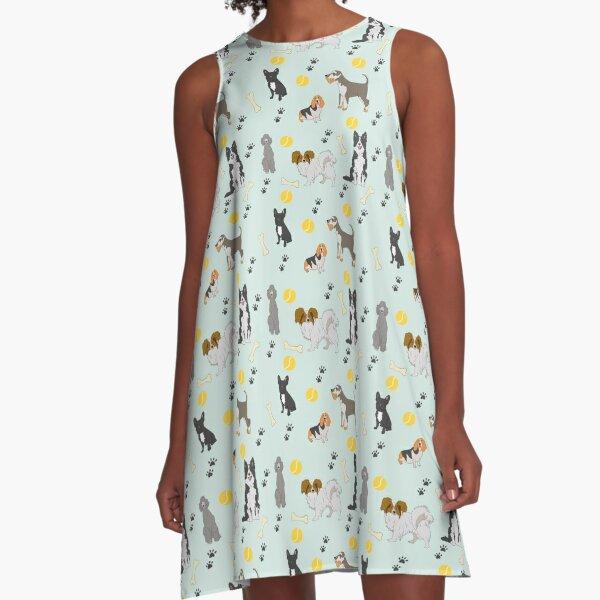 Doggone It A-Line Dress