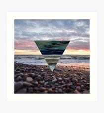 Sunset Triangle Lámina artística