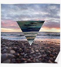 Sonnenuntergang Dreieck Poster