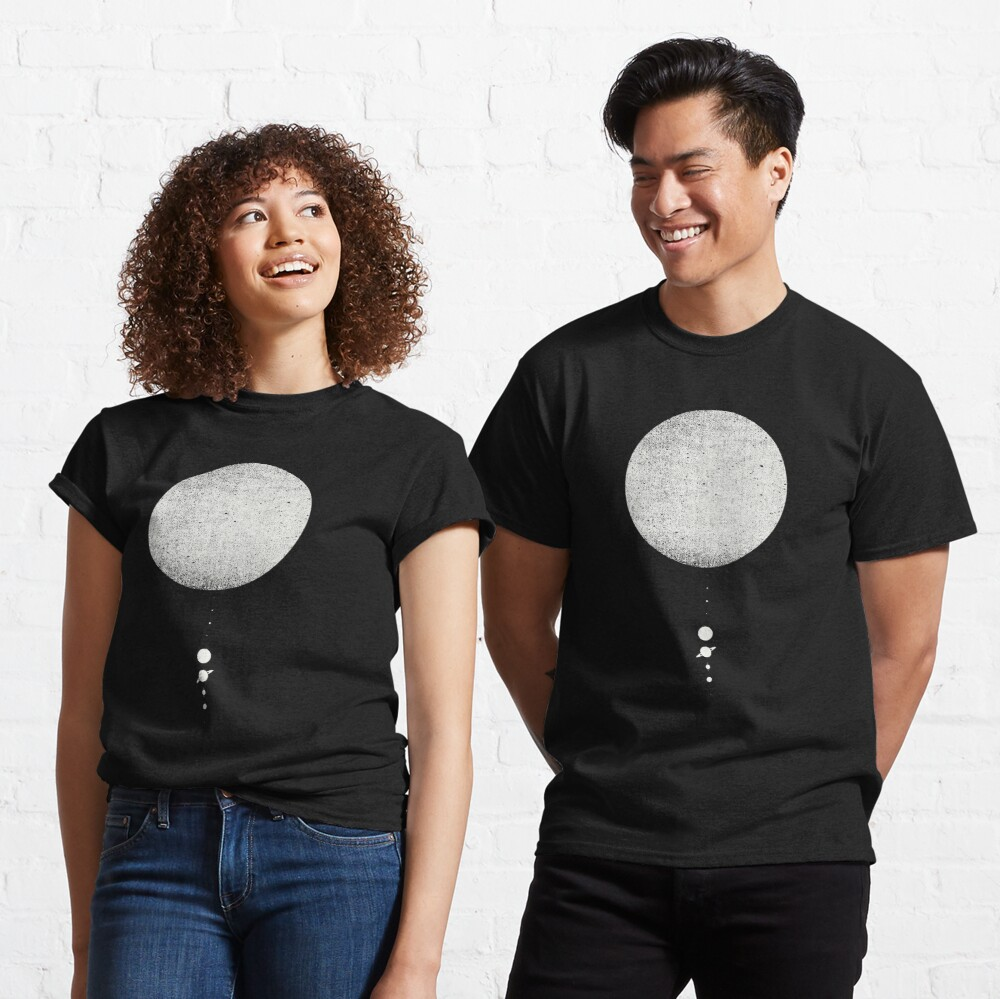 Minimal Solar System | White Ink Edition Classic T-Shirt