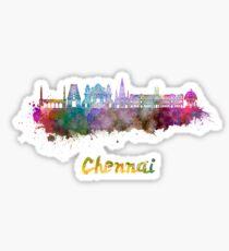 Chennai skyline in watercolor Sticker