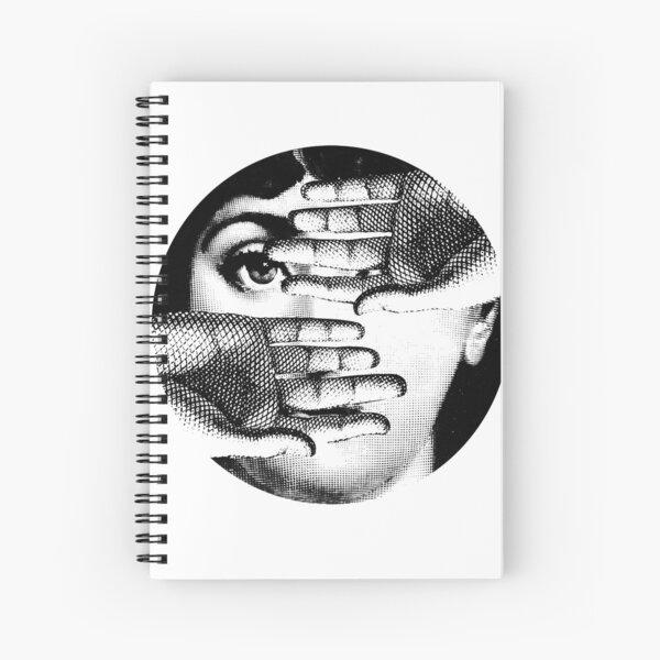 Lina Cavalieri Pop Art Fornasetti girl Spiral Notebook
