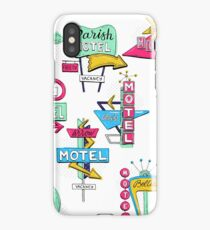 Motel signs iPhone Case/Skin
