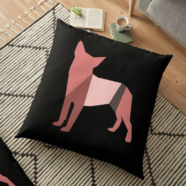 Colorful Outline Image of Dog Floor Pillow