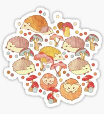 Woodland Hedgehogs - a pattern in soft neutrals  Sticker