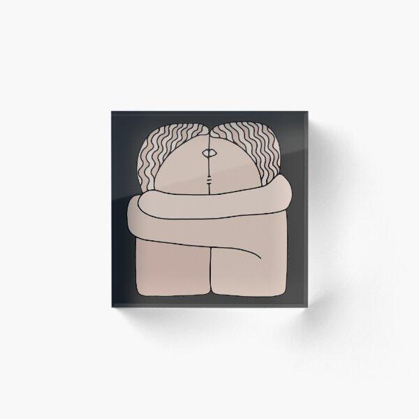 The Kiss Brancusi Sculpture Acrylic Block