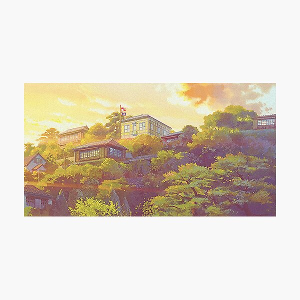 From up on poppy hill sceencap Photographic Print