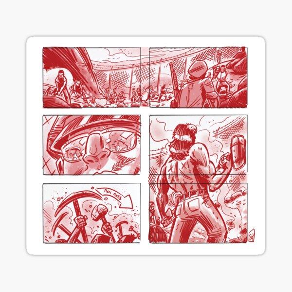 Chain Gang #2- Comic strip style Sticker
