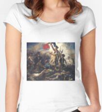 Liberty Leading the People - 1830 - Eugène Delacroix - French Revolution Women's Fitted Scoop T-Shirt