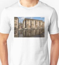 Reflecting on Ancient Pompeii - Basilica Marble Columns Symmetry Unisex T-Shirt