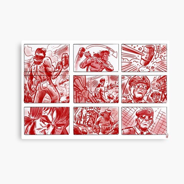 Chain Gang #4 - Comic panel style Canvas Print