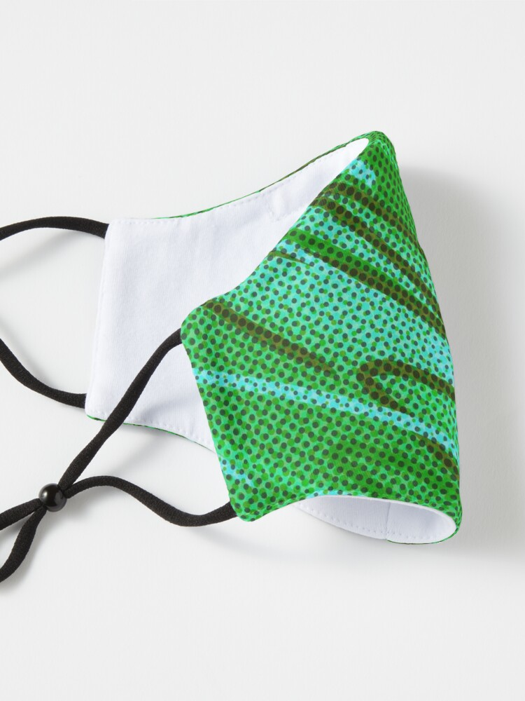 Alternate view of Half tones in green Mask