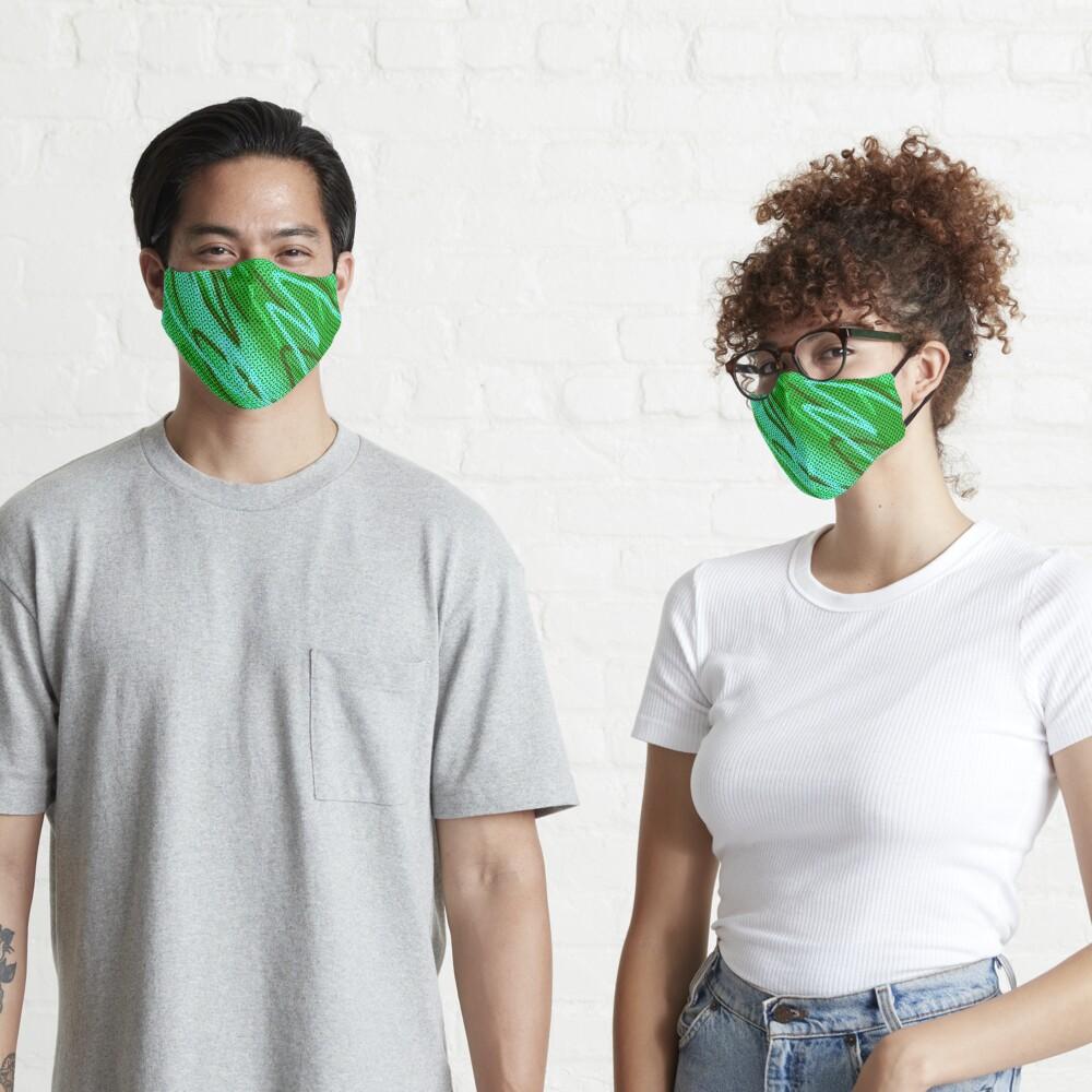 Half tones in green Mask