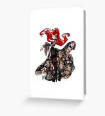 Flower Witch Greeting Card