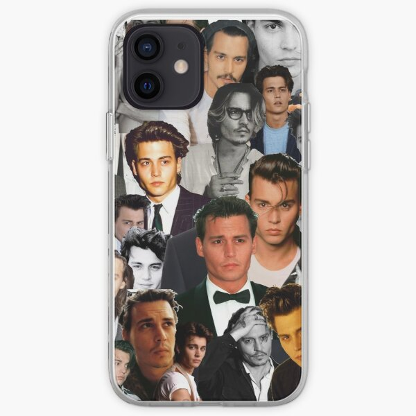 Johnny Depp Collage Coque souple iPhone