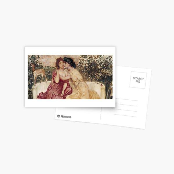 Sappho and Erinna in a Garden at Mytilene -  Simeon Solomon - 1864 Postcard