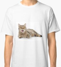 Red funny striped cat British Classic T-Shirt