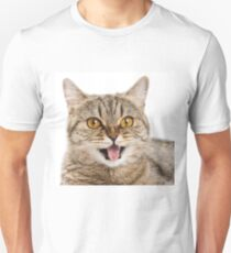 Red funny striped cat British Unisex T-Shirt