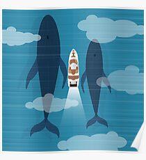 Yacht in ocean Poster
