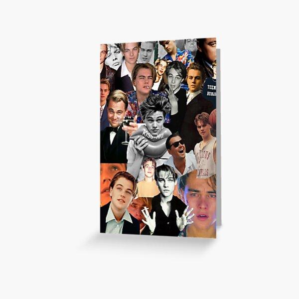 Collage de Leonardo Dicaprio Carte de vœux