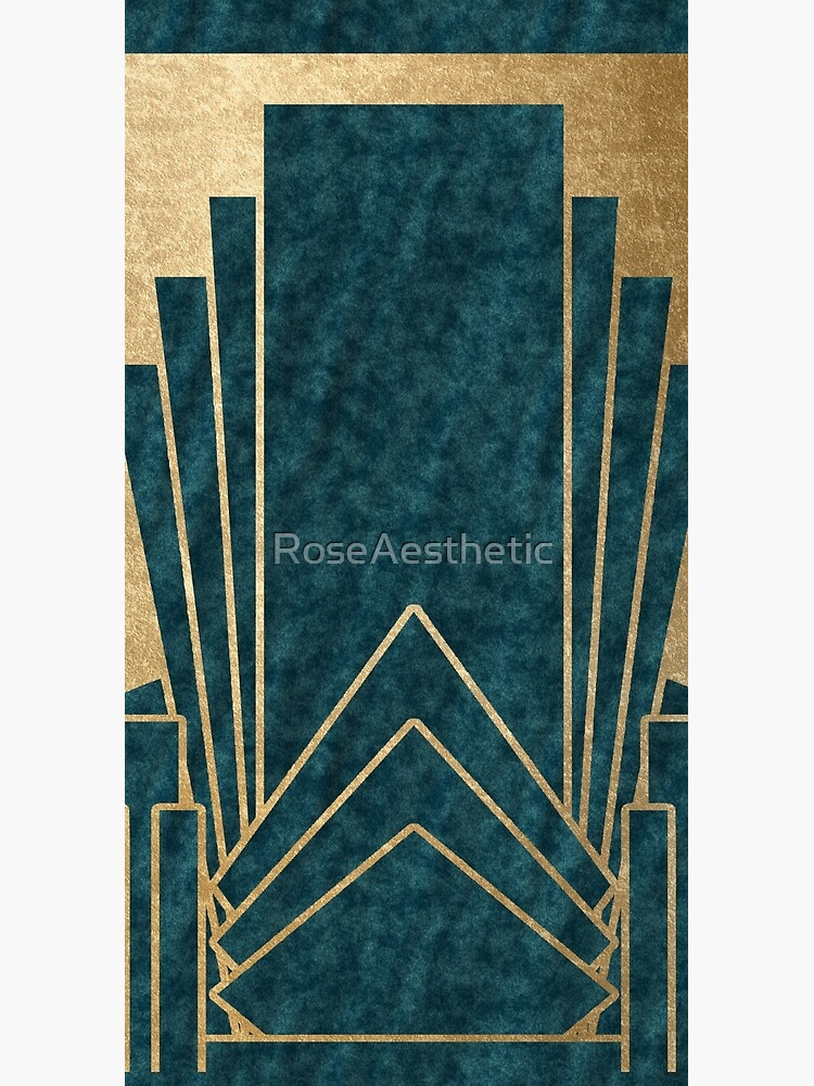 Art Deco glamour - teal and gold by RoseAesthetic