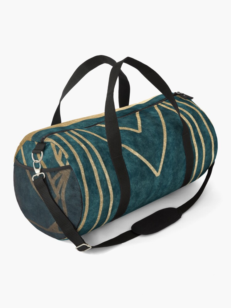 Alternate view of Art Deco glamour - teal and gold Duffle Bag