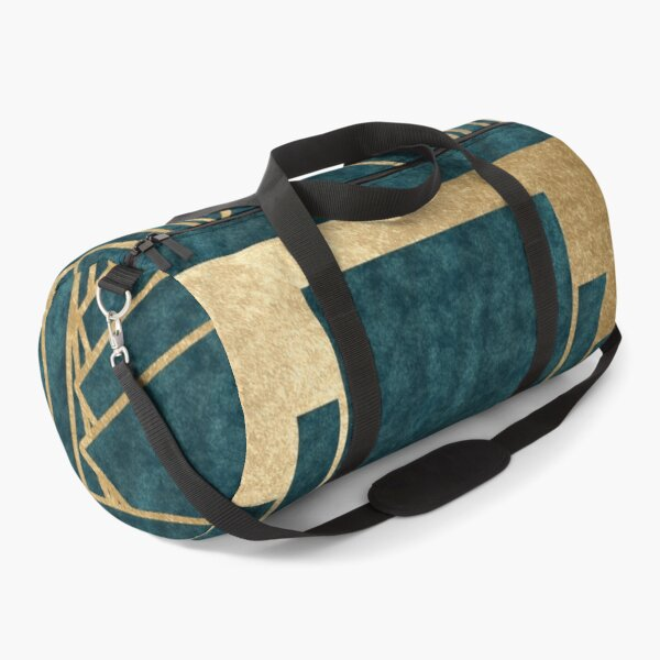 Art Deco glamour - teal and gold Duffle Bag
