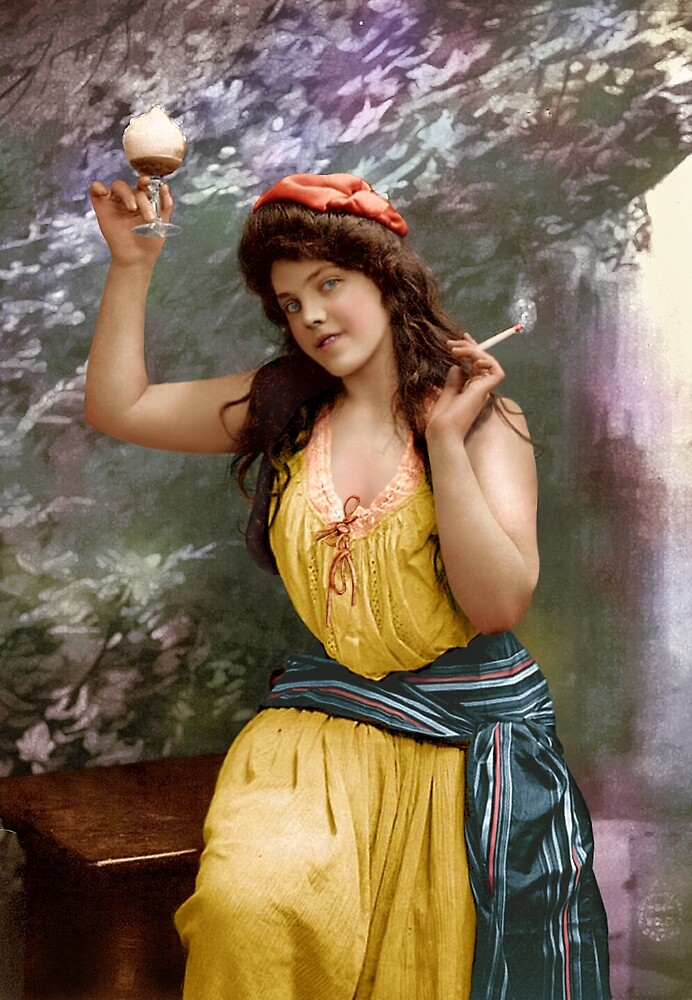 Colorized Fitz Guerin's Lady Liberine 1902 version II by lexmil