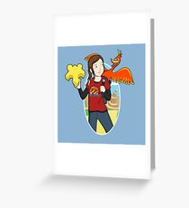 Ellie & Kazooie going on an Adventure. Greeting Card