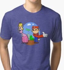 Princess Peach is in da' castle! Tri-blend T-Shirt