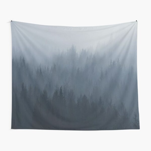 Fog trees covered by Clouds Tapestry