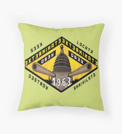 Battleship Dalek 1963 Throw Pillow