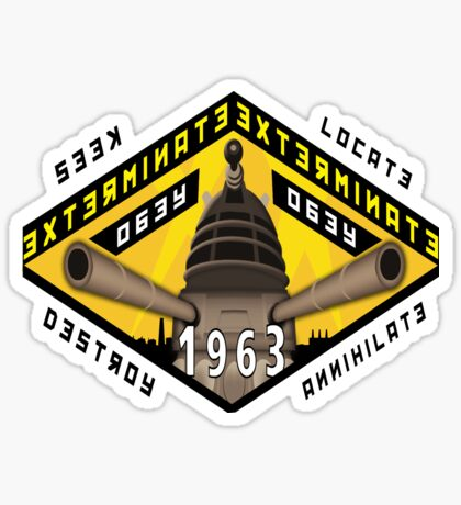 Battleship Dalek 1963 Sticker